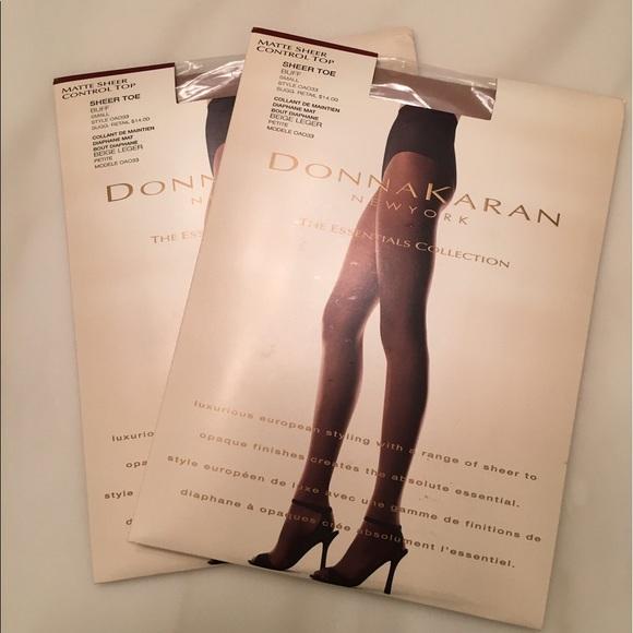 649b370022 Lot of 2 Donna Karan DKNY pantyhose size Small