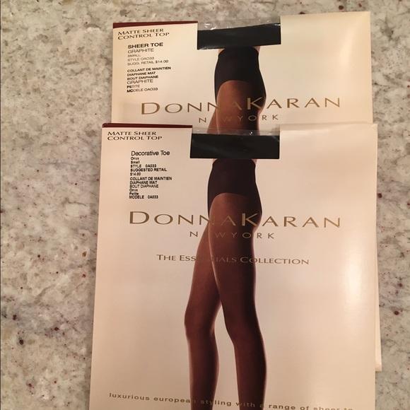 Donna karan pantyhose copper