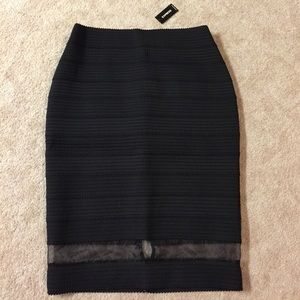 NWT Express Fitted Midi Length Skirt