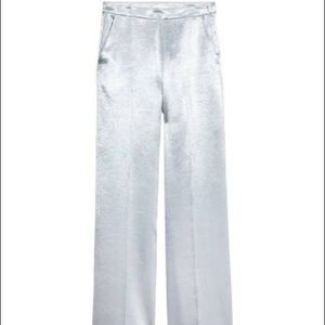 H&M Silver Wide Leg Pants