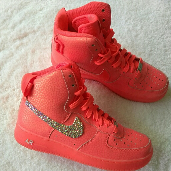 online retailer 5ec40 98c97 red and pink air force ones