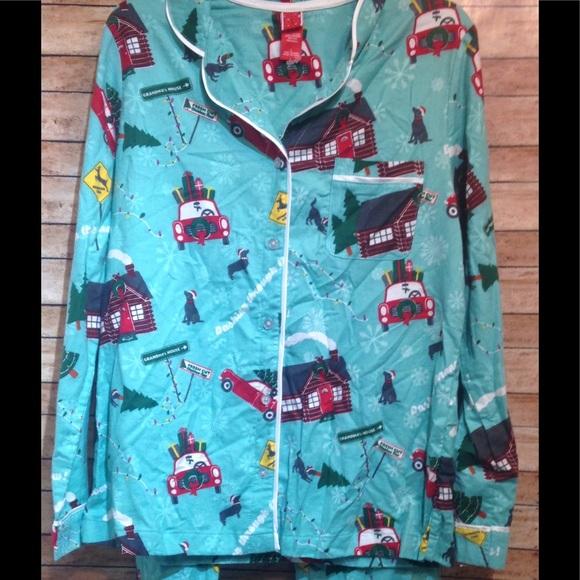 Womens Target Christmas Pajamas Size L