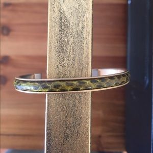 Jewelry - Vintage snakeskin thin cuff bracelet