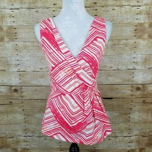 Skies Are Blue Stitch Fix Pink Wrap Front Top