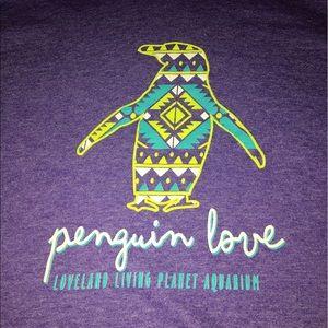 Penguin love purple sweater