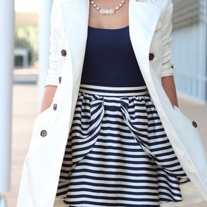 H&M striped bow front skirt