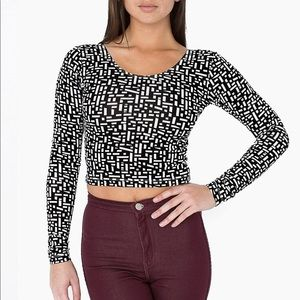 New! American Apparel energized crop top size sm