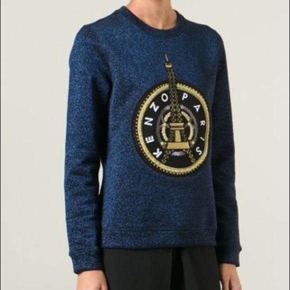 543c06f06 Kenzo Tops | Eiffel Tower Glitter Sweatshirt | Poshmark