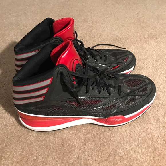 check out aa434 1aa92 adidas Other - Adidas AdiZero Crazy Light 3 - Black Red