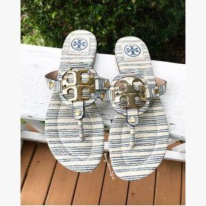 Tory Burch Shoes - Tory Burch Nautical Striped Miller Sandals