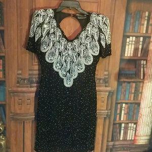 Black & silver vintage dress