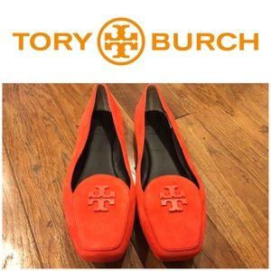 Brand New Tory Burch Orange Loafers Size 8 1/2