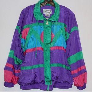 Jackets & Blazers - VINTAGE 80's Wind Suit Jacket Size Large