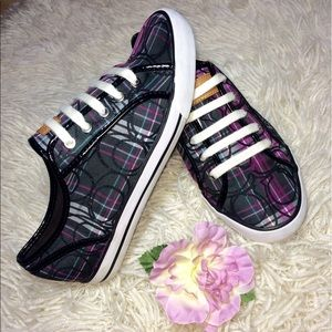 Authentic Coach Purple/Black Sneakers Size 8