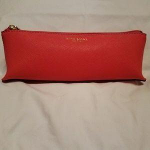Henri Bendel Orange West 57th Small Cosmetic Bag
