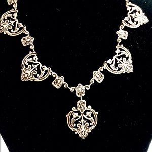Jewelry - Antique Sterling Silver Necklace and Earrings.