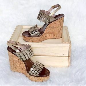1b30f94fec2c Tory Burch Shoes - Tory Burch  Daisy  Platform Wedge Sandal