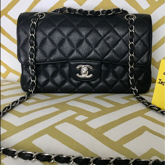 3afe550e71bd CHANEL Handbags - CHANEL Caviar Quilted Small Double Flap in Black.
