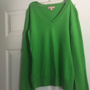 Lilly Pulitzer Long Sleeve Green Sweater, S
