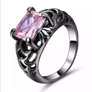 Jewelry - 5/$25 dark silver & pink ring wedding engagement 8