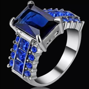 Jewelry - 5/$25 blue silver engagement wedding promise ring