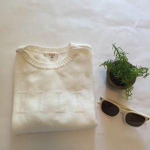 Elle Tops - Elle Sport vintage logo crop sweater