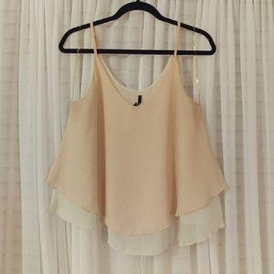 B Jewel Tops - Light Pink and White Polka Dot Cami