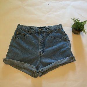 Halston Pants - Halston vintage denim cut off shorts