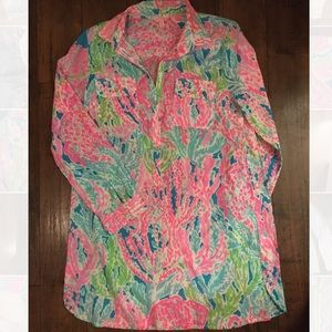 Lilly Pulitzer Tops - Lilly Shirt/Cover-up