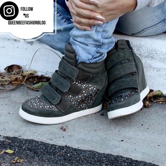 Aldo Shoes   Aldo Rhinestone Army Green