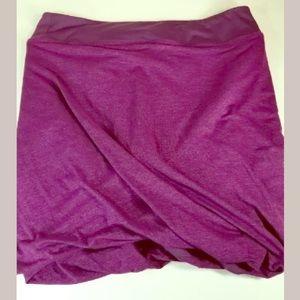 Athleta comfy sport mini skirt magenta purple sz L