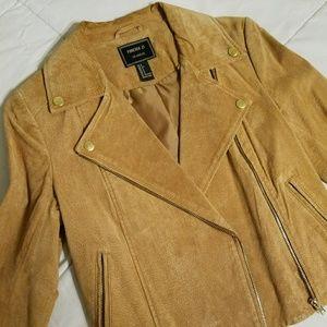 Tan Suede Moto Jacket