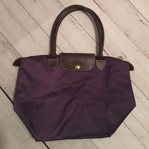Longchamp Handbags - Longchamp purple tote purse