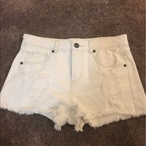 Pants - Off white ripped high waisted shorts