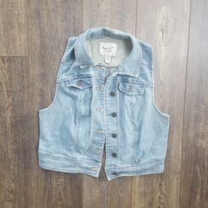Jean Button Up Vest