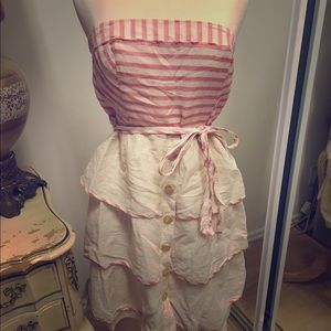 Dresses & Skirts - Red and white striped summer dress