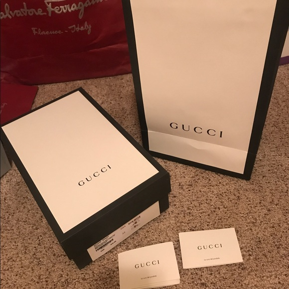 5d6a0f340502 Gucci Shoes | Empty Box With Shopping Bag | Poshmark