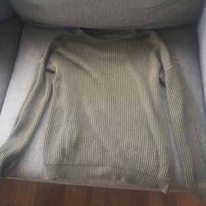 Brandy Melville Sweaters - Brandy Melville Crew neck sweater- hunter green