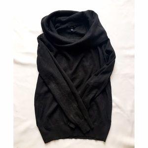 Sweaters - Gap Rabbit Hair Cowl Neck Sweater, Black, Medium