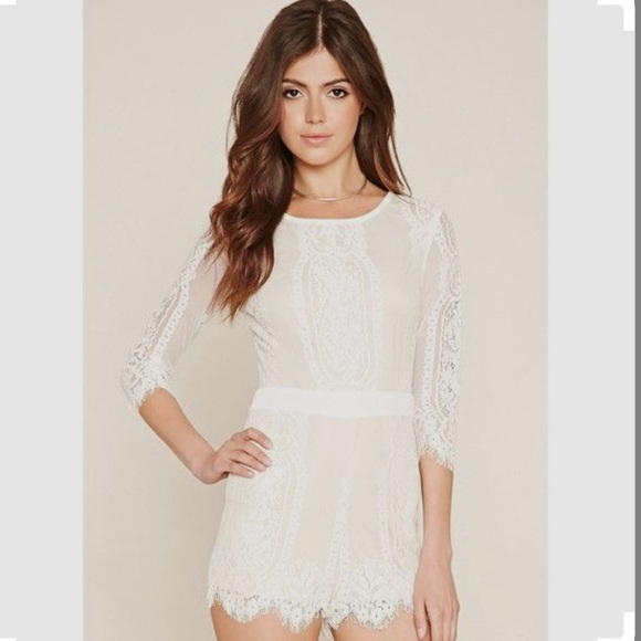 4d0210d8e893 Forever 21 Dresses   Skirts - FINAL PRICE ⭐ Forever 21 Eyelash Lace Romper