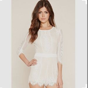 FINAL PRICE ⭐️ Forever 21 Eyelash Lace Romper