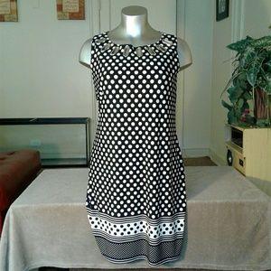 Dresses & Skirts - Haani Women  Black/White Polka Dot Designed Dress