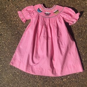 Other - Pink cupcake smocked 12 month girl's party dress