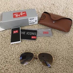 Ray Ban Aviator 55mm Light brown lens