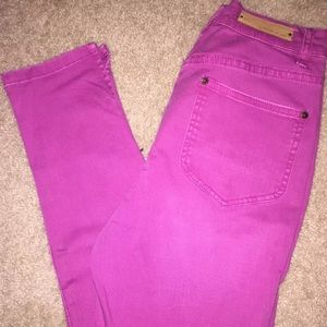 Urban Outfitters Pink High Waisted Ankle Jean 27