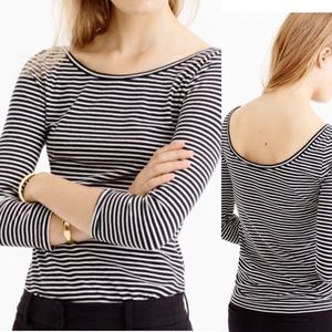 J.crew Scoopback ballet T-shirt in stripe, NWT