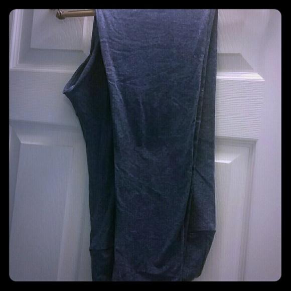 36% off LuLaRoe Pants - Gently worn solid heathered blue Lularoe leggings from Tracyu0026#39;s closet on ...