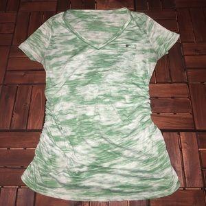Liz Lange maternity green & white Tshirt L