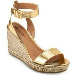 Lily Pulitzer for Target Gold Wedge Espadrilles