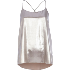 River Island silver high neck tank blouse